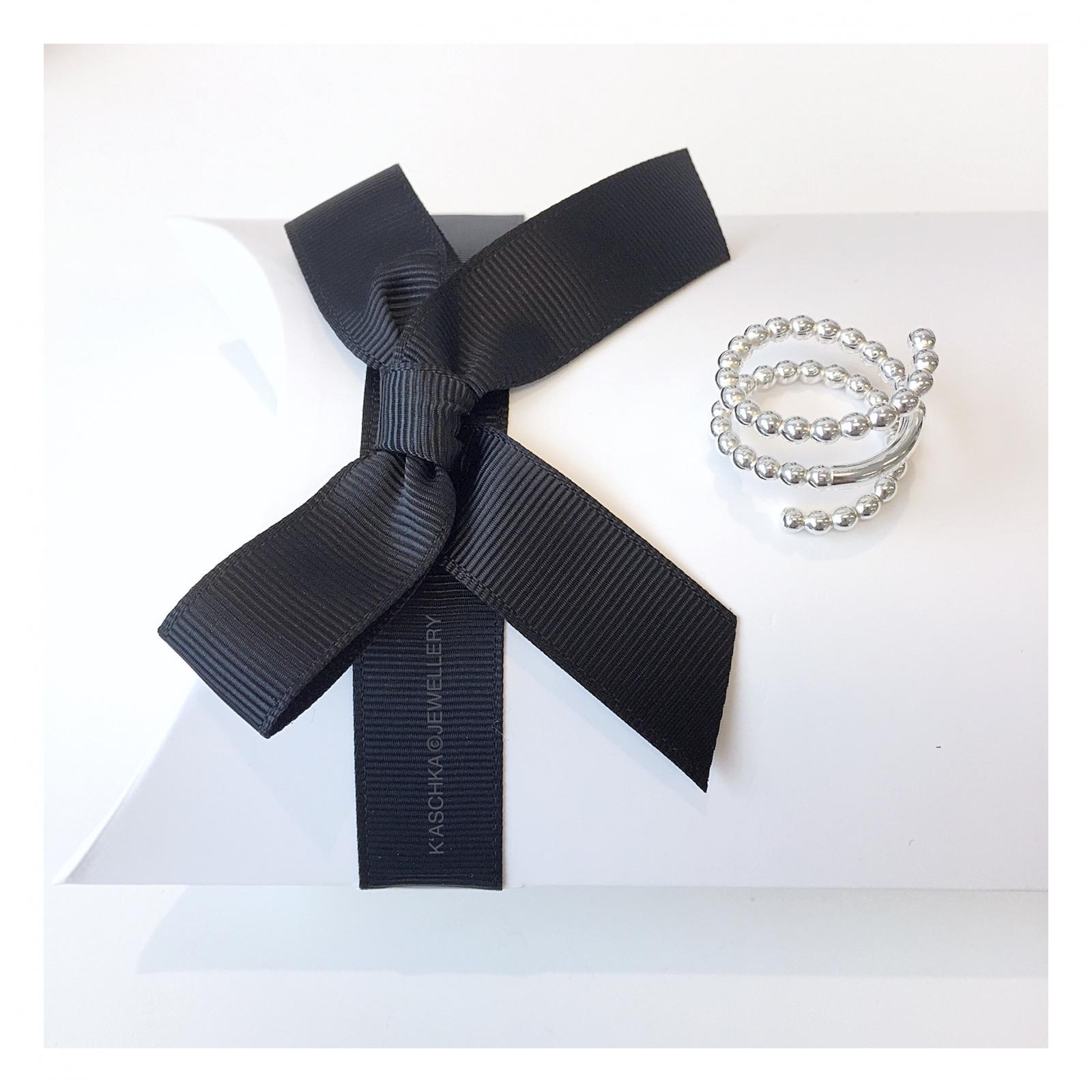 Flexibele dubbele 925 sterling zilveren ring
