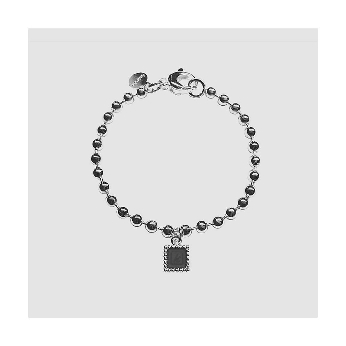 925 sterling zilveren armband met vierkante kasminis hanger