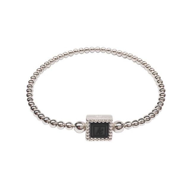 Flexibele 925 sterling zilveren armband vierkante kasminis