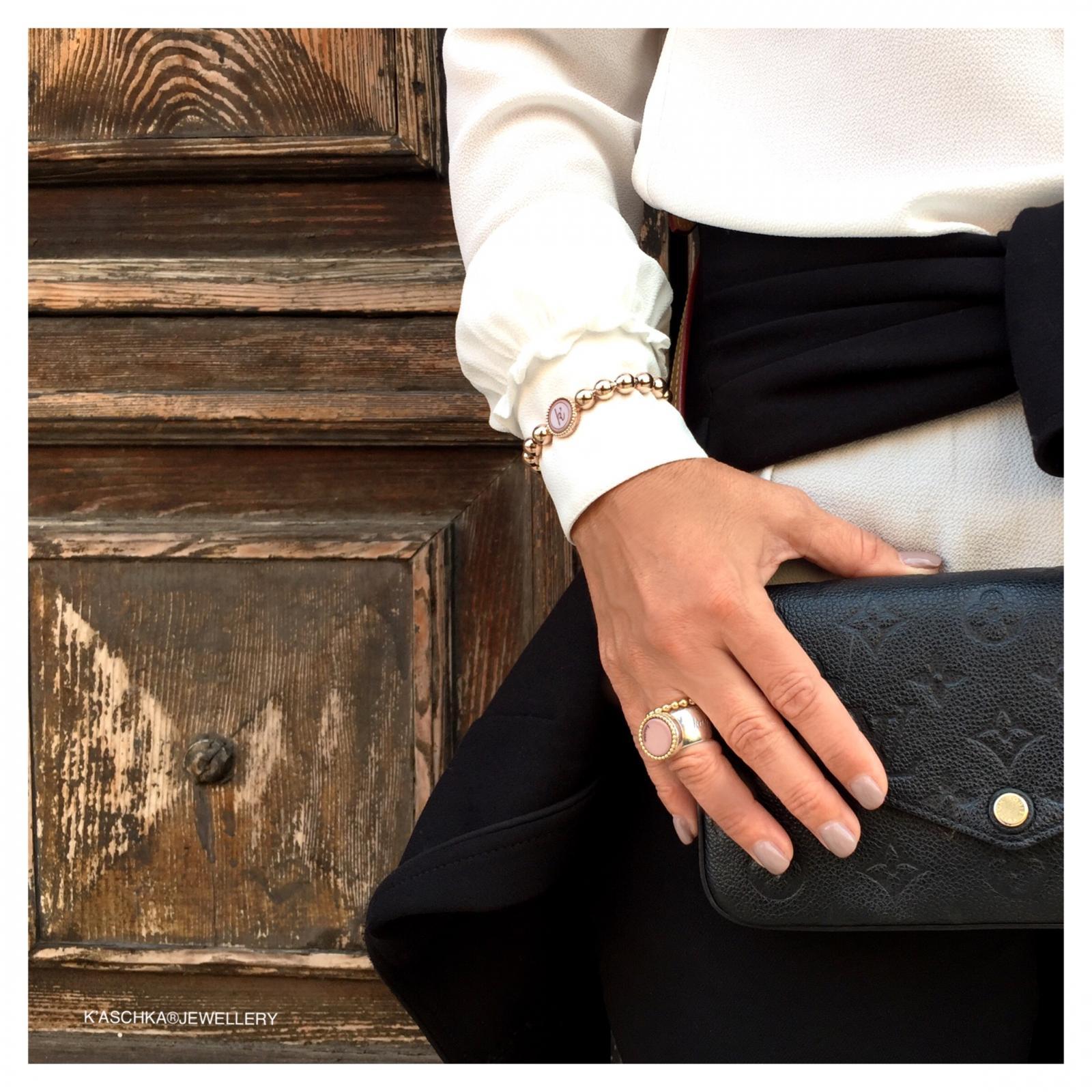 Flexibele 925 sterling zilveren wisselbare armband deluxe large Flexibele ring Massief 925 sterling zilveren wisselbare ring met 18 karaats gouden rand