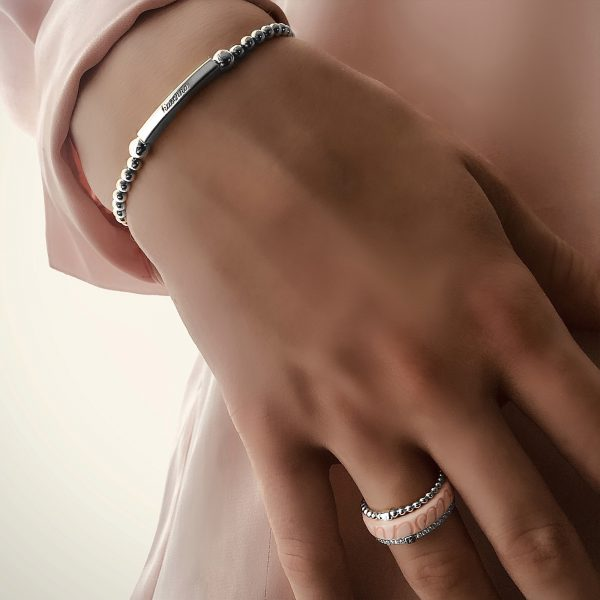 staafjes flex armband 925 zilver