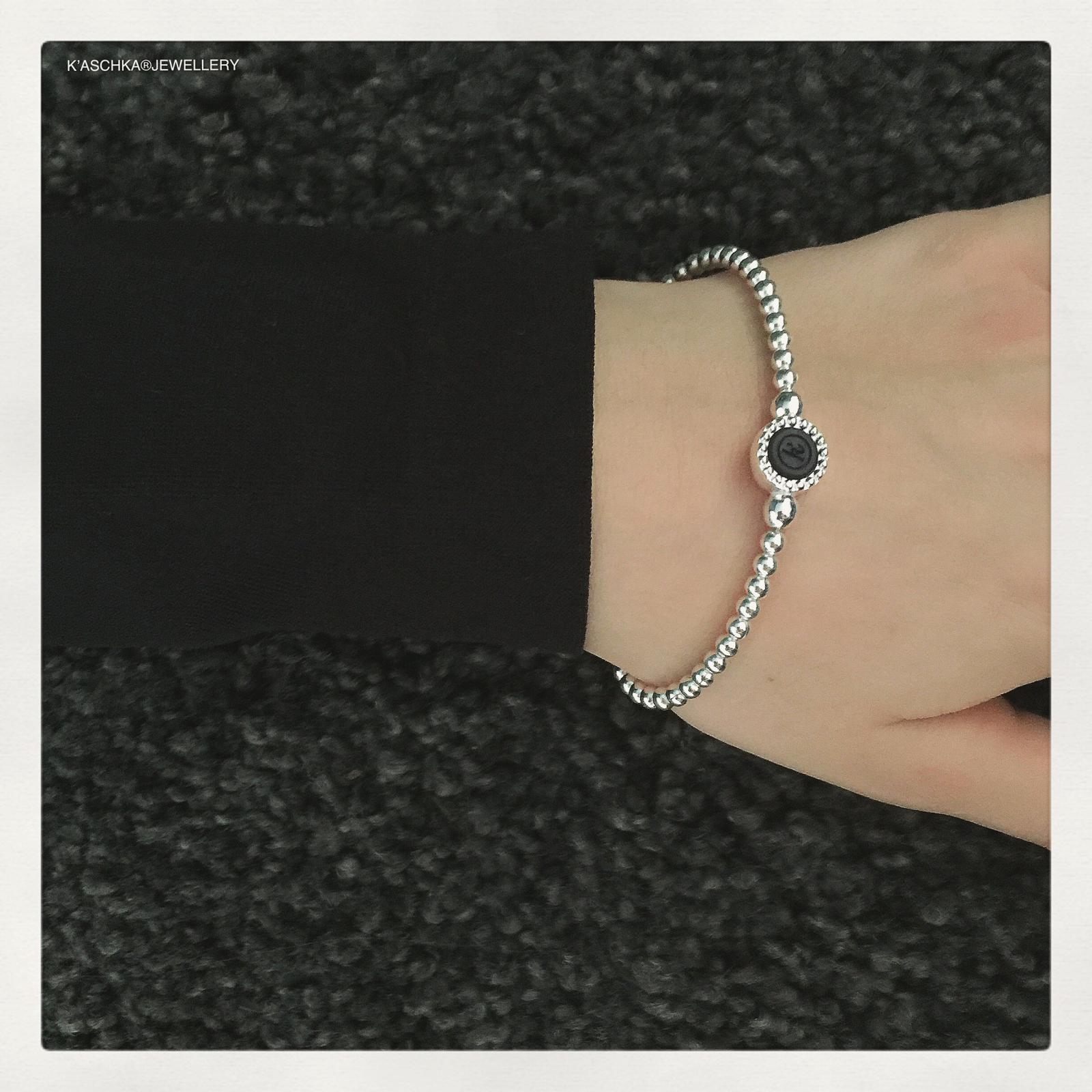 Flexibele 925 sterling zilveren armband ronde kasminis