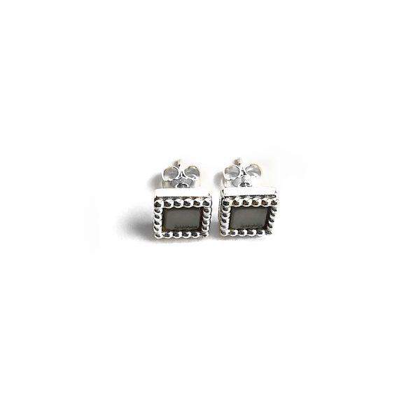 925 sterling zilveren vierkante oorstekers