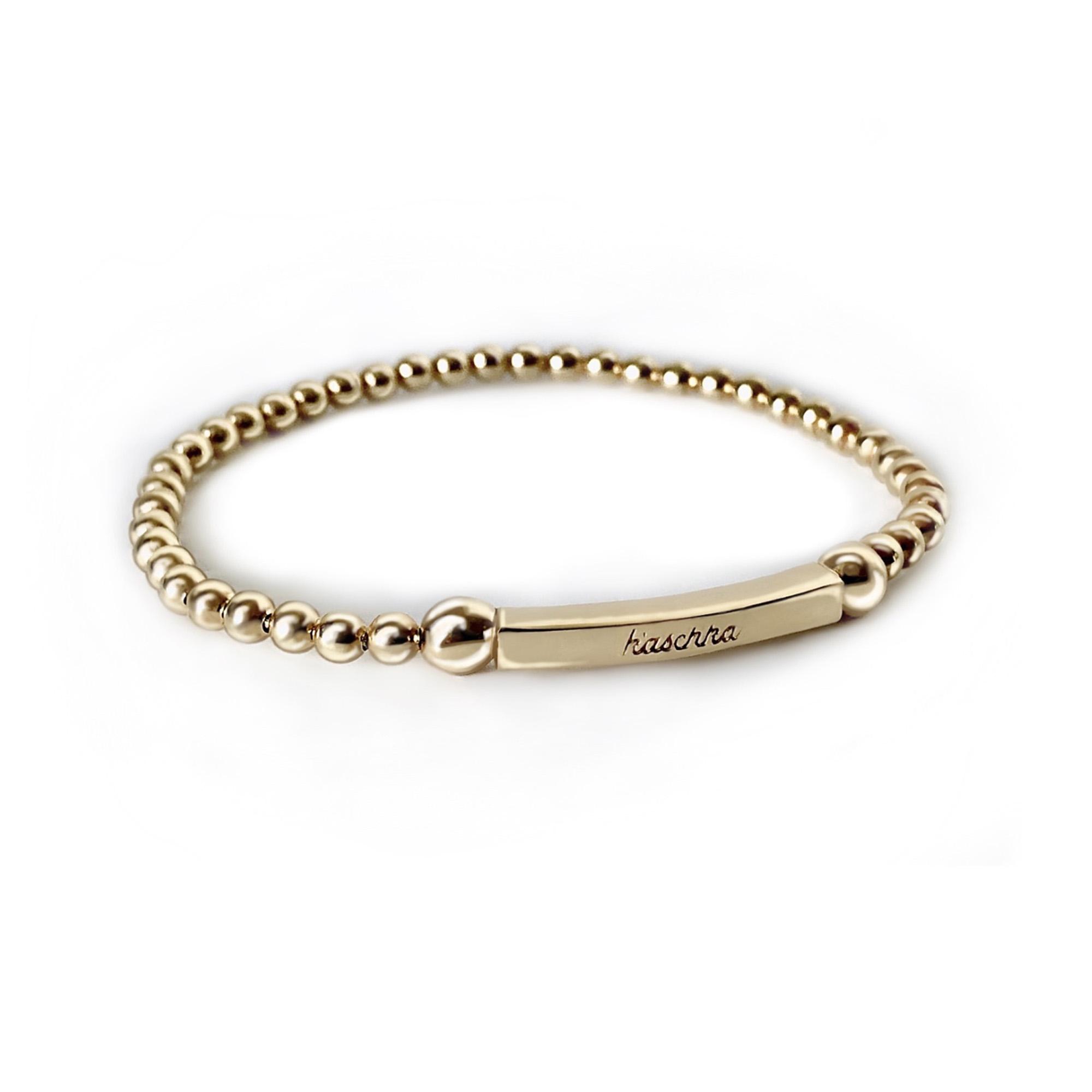 925 sterling zilveren flex armband met staafje goud