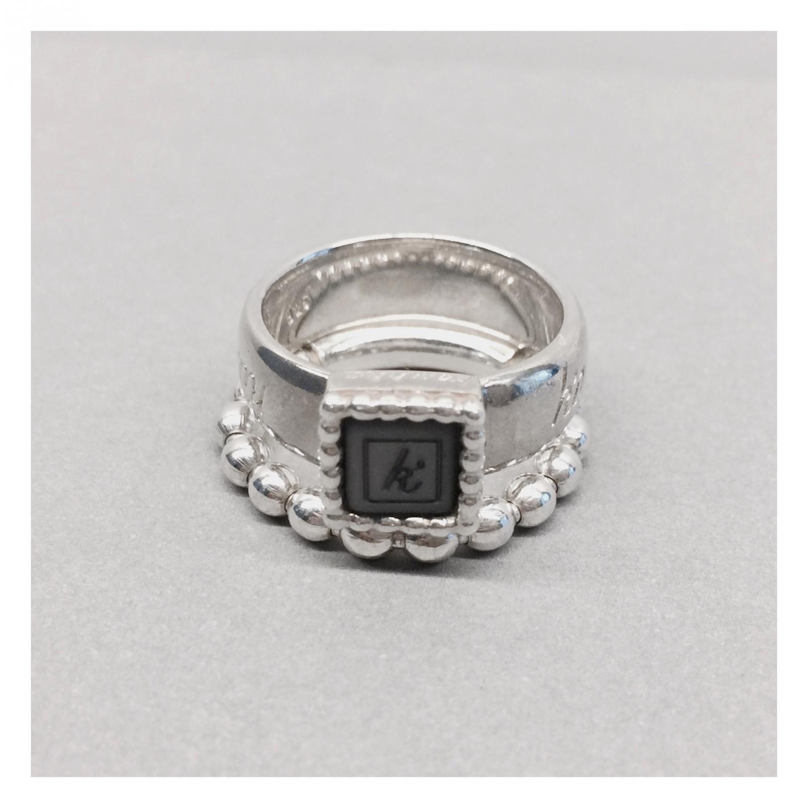 Flexibele ring 925 sterling zilveren vierkante kasminis ring