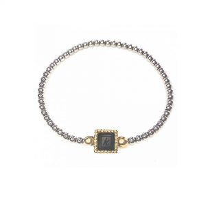 925 sterling zilveren flex armband vierkante vaste kasminis bicolor goud