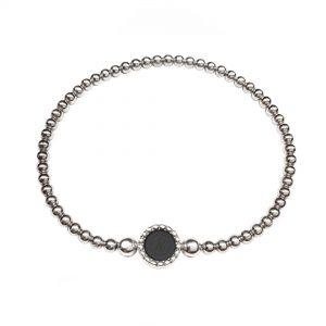 925 sterling zilveren flex armband ronde vaste kasminis
