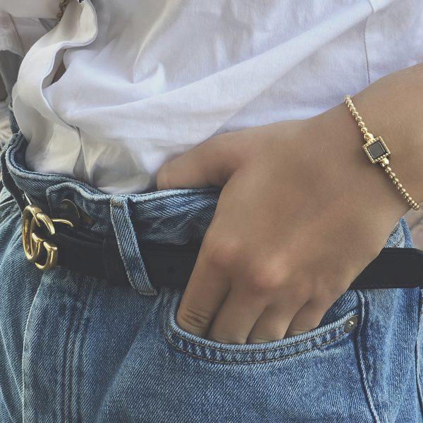 925 sterling zilveren ring kasminis vierkant