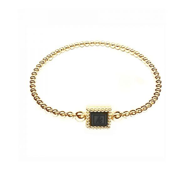 925 sterling zilver flex armband vierkant goud