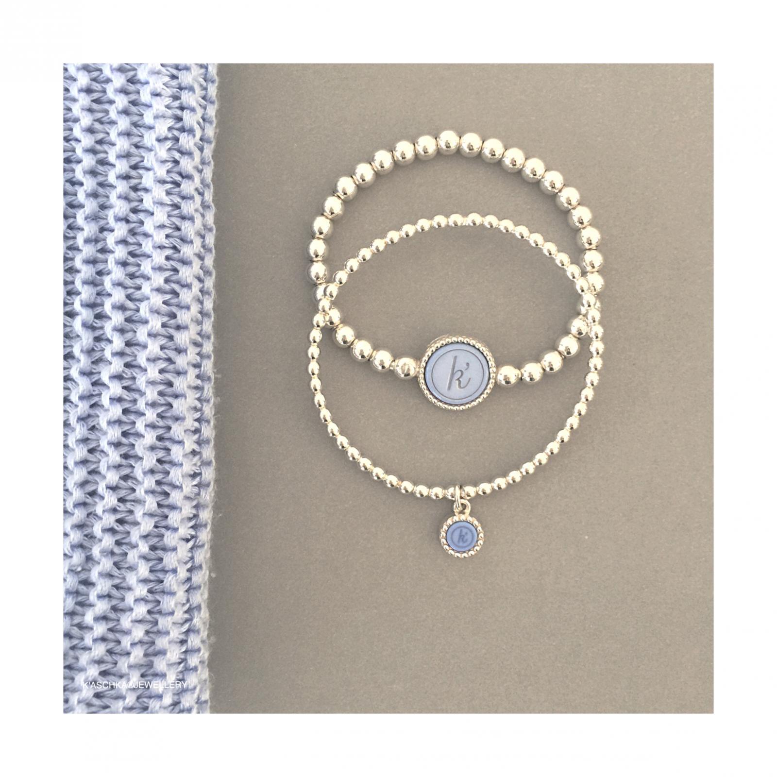 Flexibele 925 sterling zilveren wisselbare armband. Flexibele 925 sterling zilveren armband met kasminis hanger