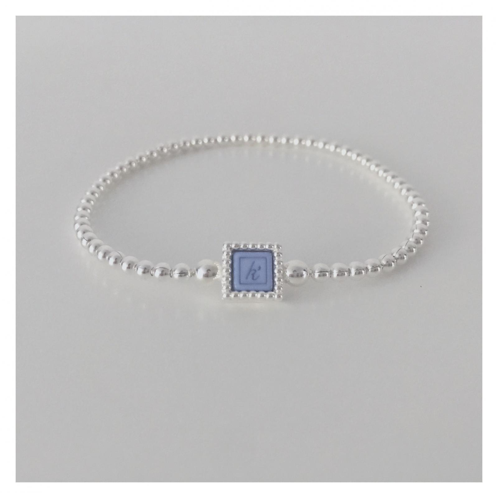Flexibele 925 sterling zilveren armband met vierkante kasminis