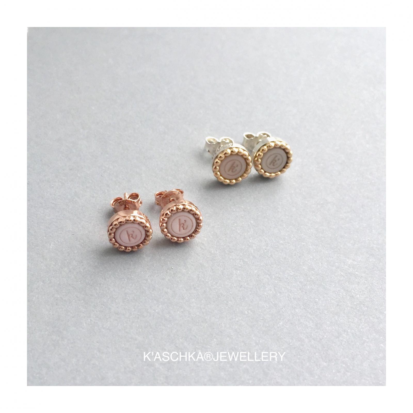 925 sterling zilveren oorstekers rose verguld 925 sterling zilveren oorstekers met 18 karaats gouden rand