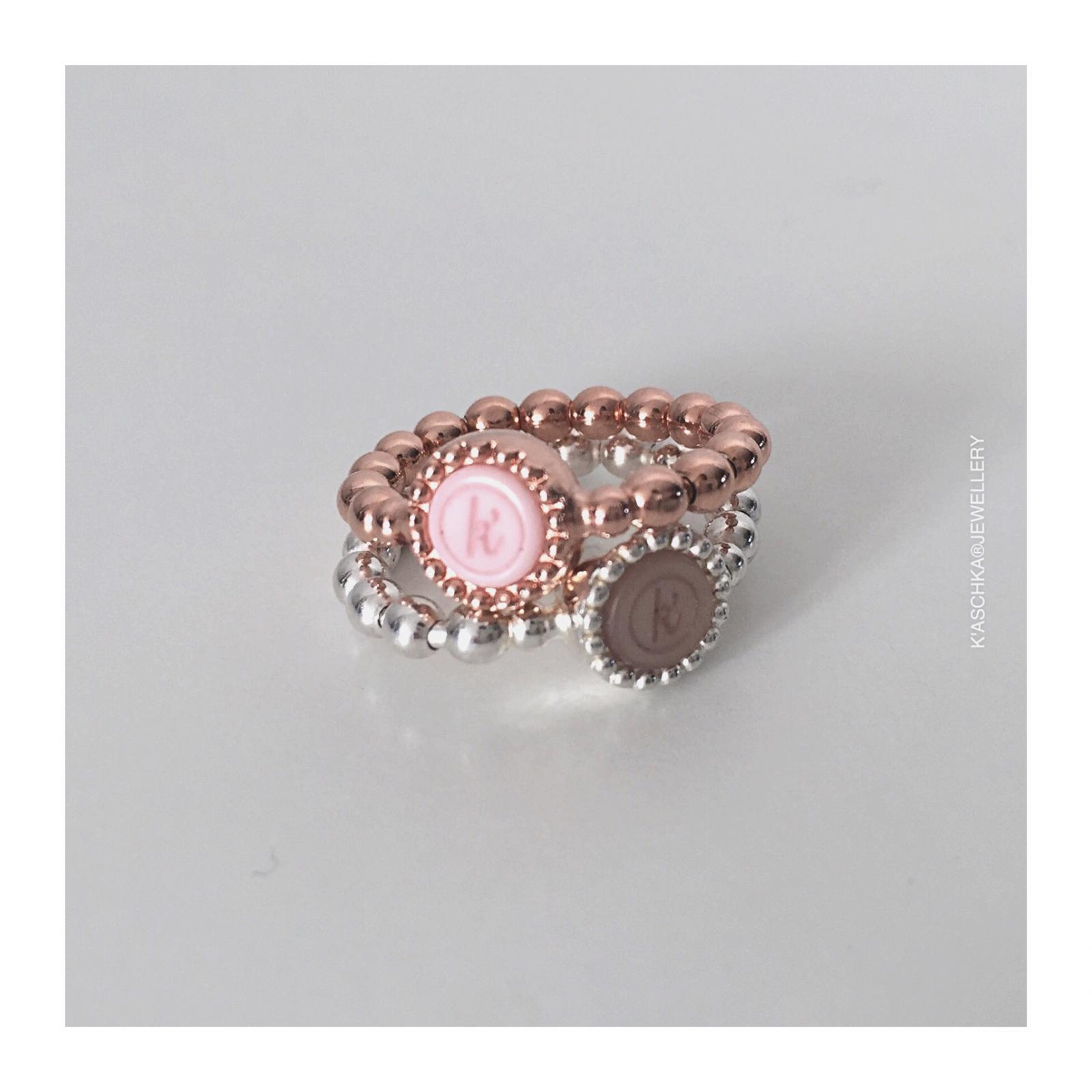 Flexibele 925 sterling zilveren rose vergulde ring Flexibele 925 sterling zilveren ring