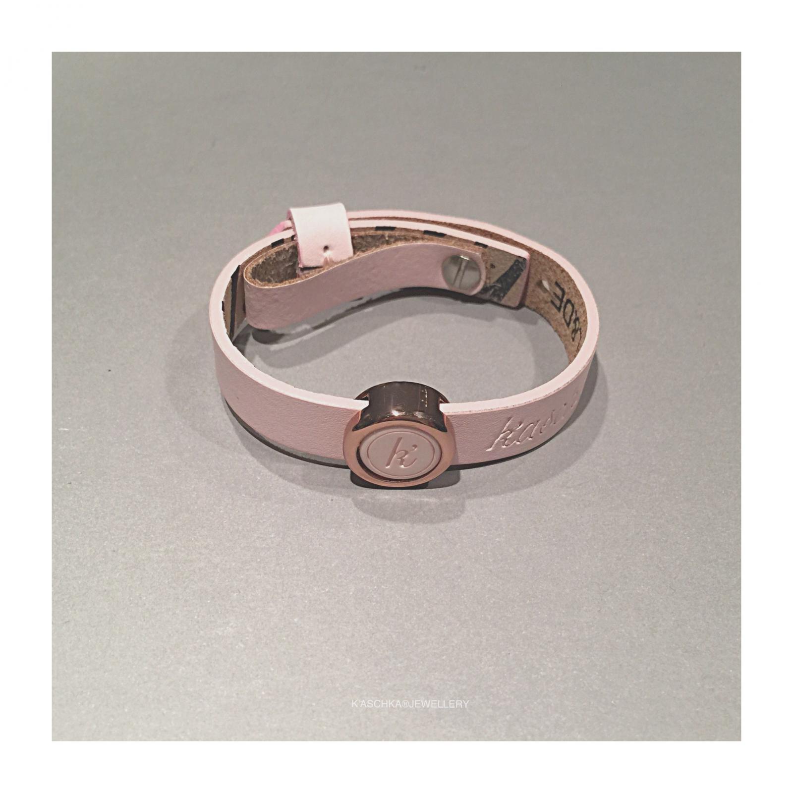 Schuiver met vaste inlay Leren armband