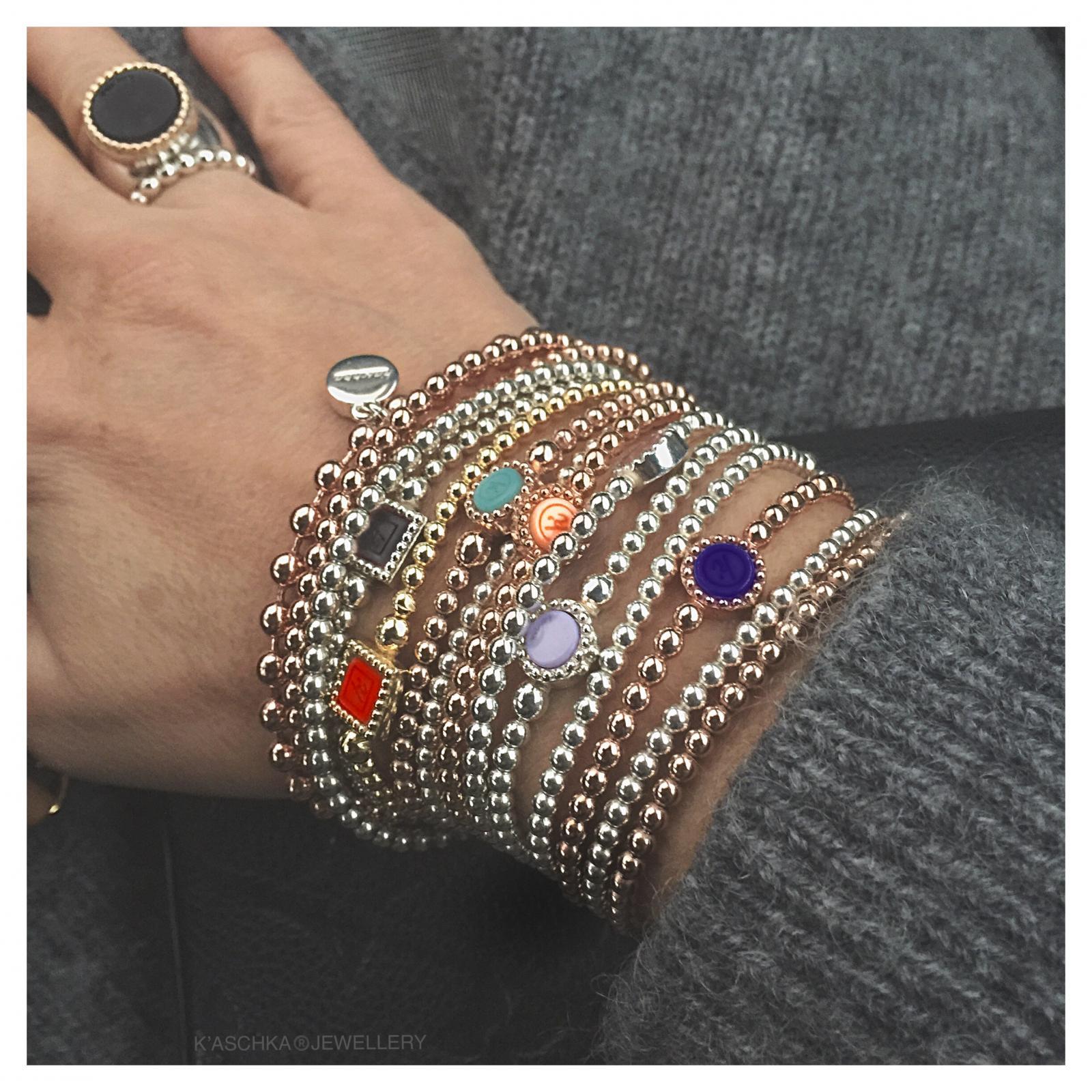 Ring met massief 18 karaat goud 925 Sterling zilveren ring Flexibele 925 sterling zilveren armband rond Flexibele 925 sterling zilveren armband vierkant