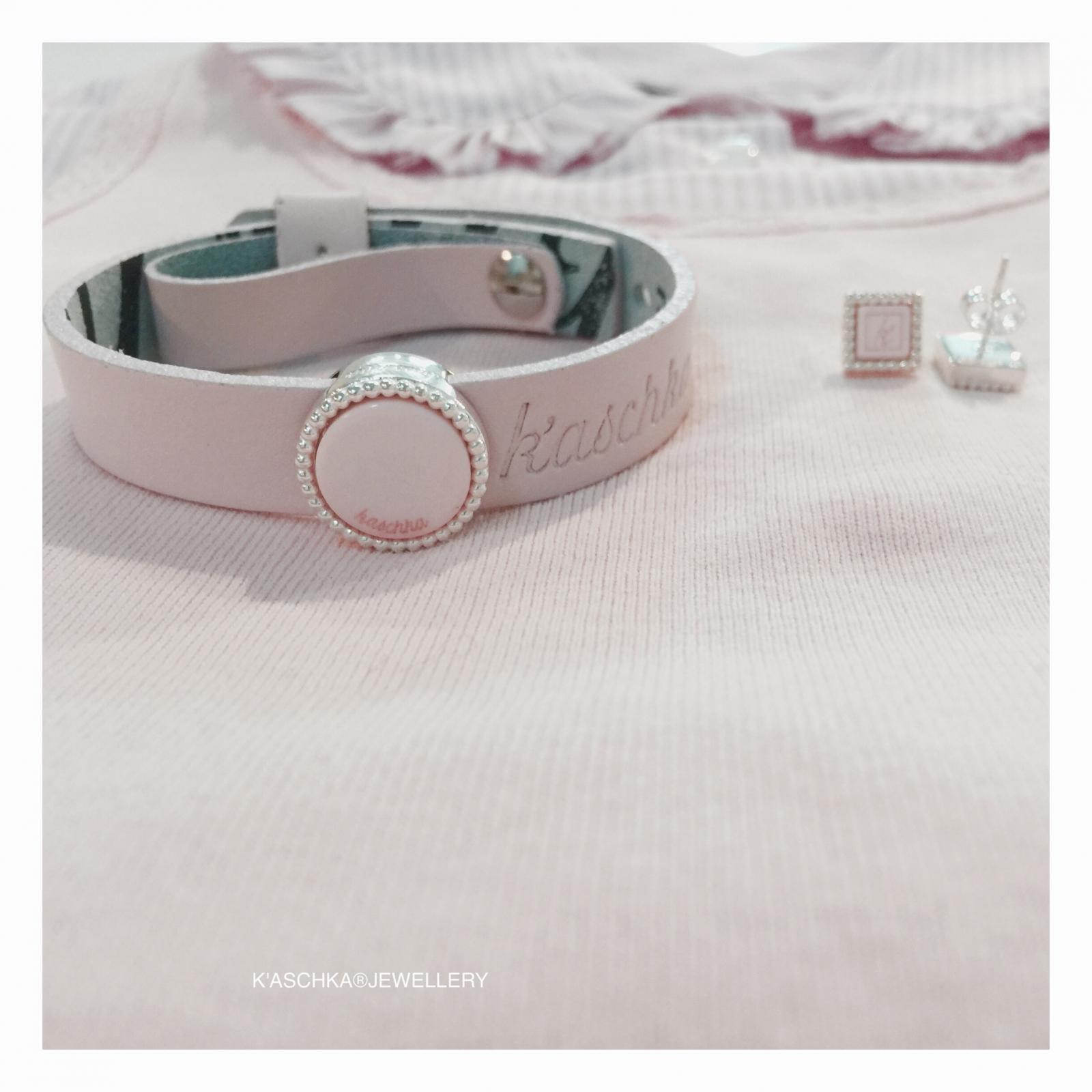 Leren armband 925 sterling zilveren oorbellen 925 sterling zilveren schuiver