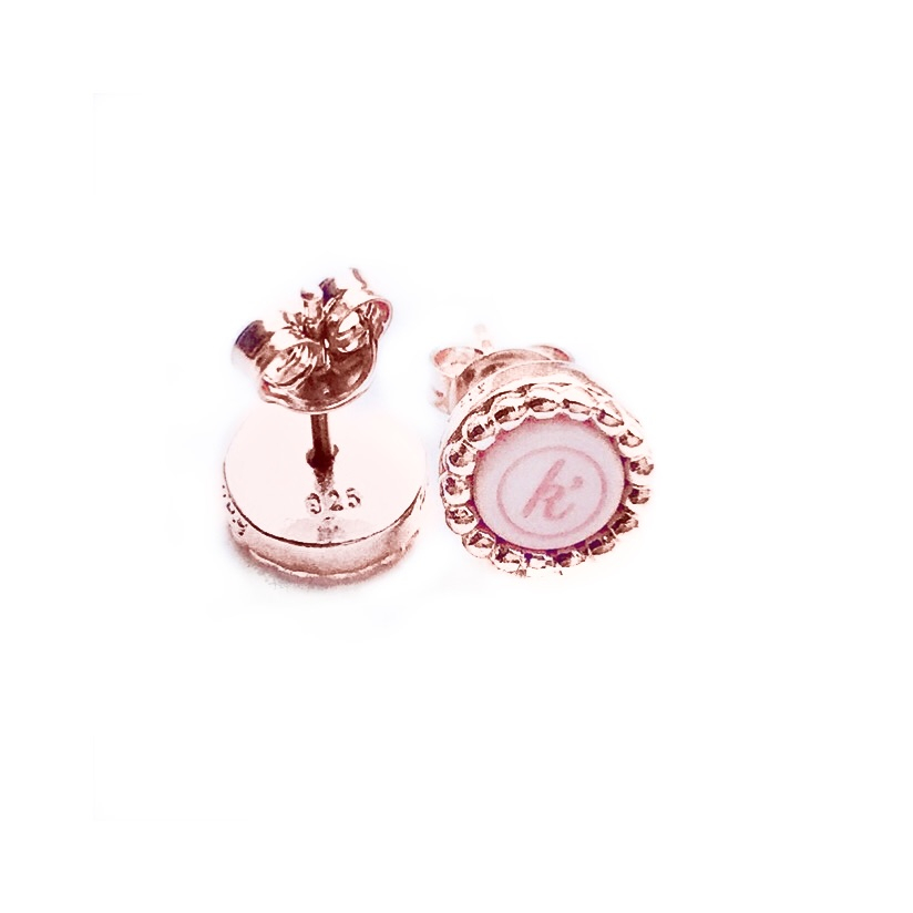 925 sterling zilveren oorsteker rose