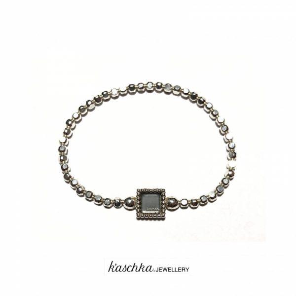 925 sterling zilveren flex armband diamant cut vierkante kasminis