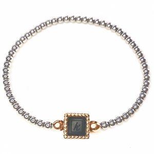 925 sterling zilveren flex armband vierkante vaste kasminis bicolor rose