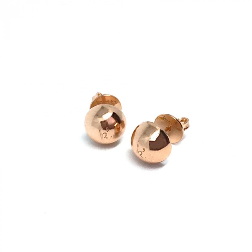 925 sterling zilveren oorstekers halve bolletjes rose