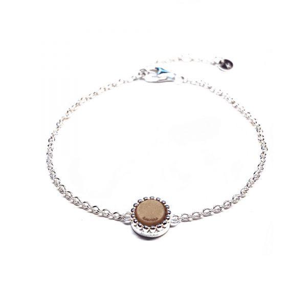 925 sterling zilver verstelbare zilveren armband met vaste kasminis