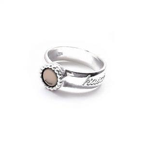 925 sterling zilveren ring kasminis rond