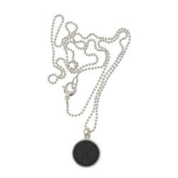 925 sterling zilver wisselbare ketting inlay large zwart