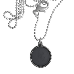 Zilver plated wisselbare ketting 90 cm lang inlay large spijkerbroekblauw