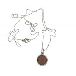 925 sterling zilveren wisselbare ketting inlay midi bruin
