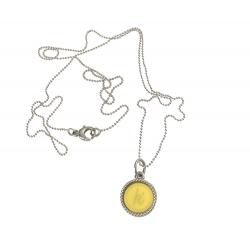 925 sterling zilveren wisselbare ketting inlay midi geel