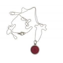 925 sterling zilveren wisselbare ketting inlay midi rood