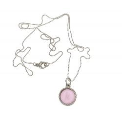 925 sterling zilveren wisselbare ketting inlay midi roze glossy