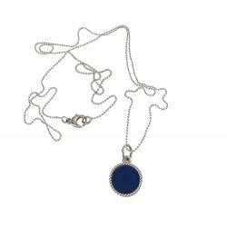 925 sterling zilveren wisselbare ketting inlay midi royalblauw