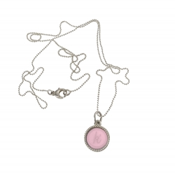 925 sterling zilveren wisselbare ketting inlay midi roze