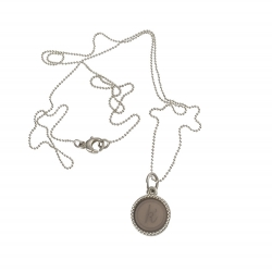 925 sterling zilveren wisselbare ketting inlay midi taupe