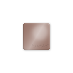 Inlay donker nude glossy midi naamlogo vierkant