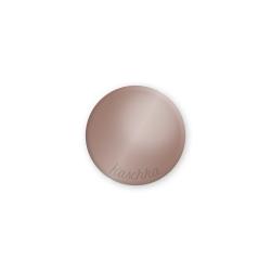 Inlay donker nude glossy midi naamlogo