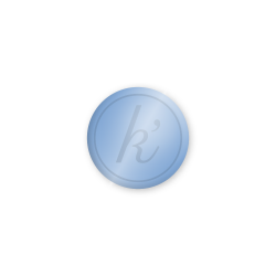Inlay lichtblauw glossy midi k