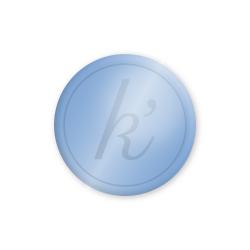 Inlay lichtblauw glossy large k