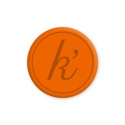 Inlay NL orange large k'