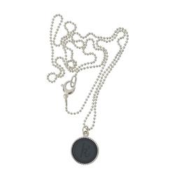 925 sterling zilver wisselbare ketting inlay large spijkerbroekblauw