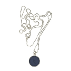 925 sterling zilver wisselbare ketting inlay large navy