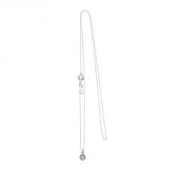 925 sterling zilveren lange ketting vaste kasminis rond nude