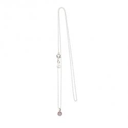 925 sterling zilveren lange ketting vaste kasminis rond roze