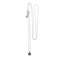 925 sterling zilveren lange ketting vaste kasminis vierkant spijkerbroekblauw