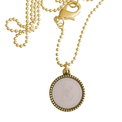 Goud plated wisselbare ketting 90 cm lang inlay large nude