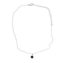 925 sterling zilveren korte ketting vaste kasminis royalblauw