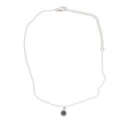 925 sterling zilveren korte ketting vaste kasminis spijkerbroekblauw