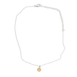 925 sterling zilveren korte ketting vaste kasminis geel