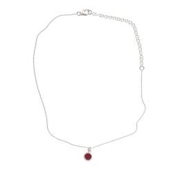 925 sterling zilveren korte ketting vaste kasminis rood
